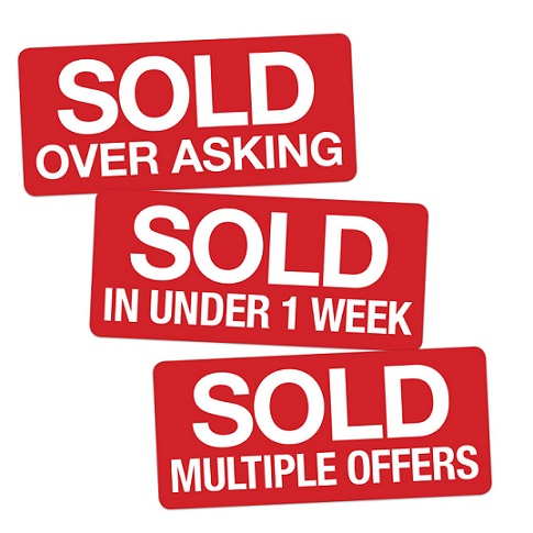 multiple offers sold sign