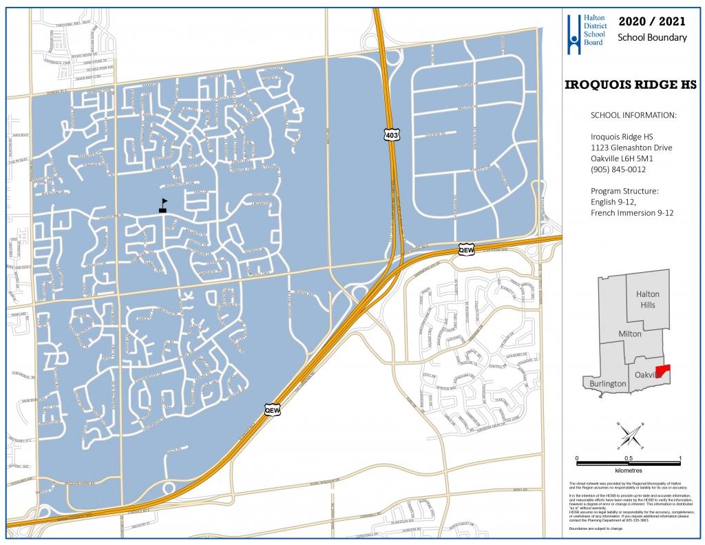 Iroquois Ridge High School Boundary Map