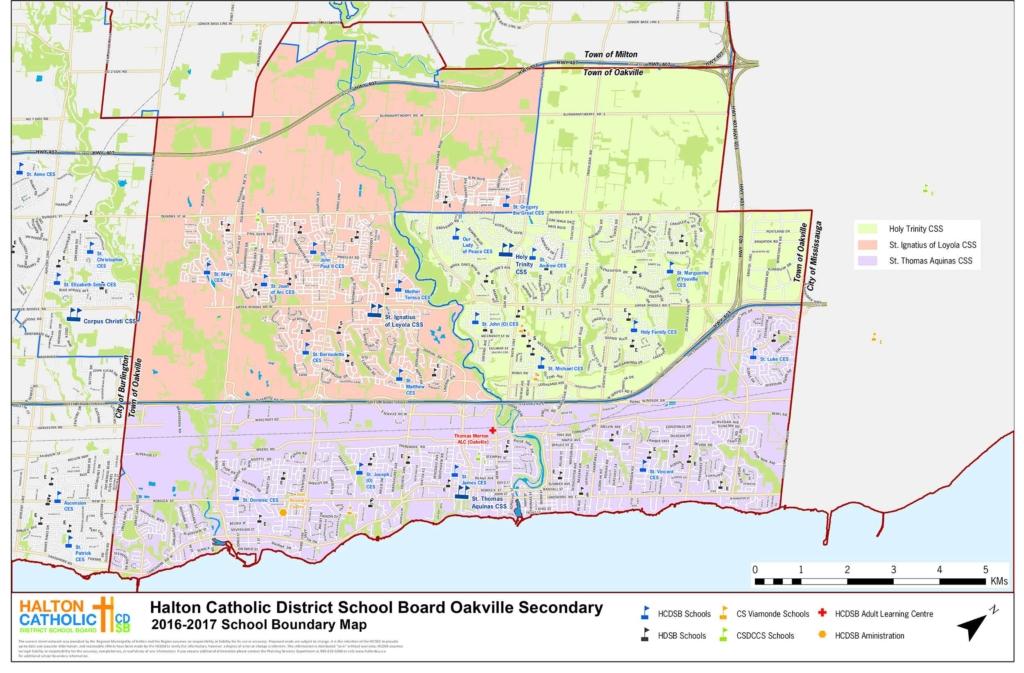holy trinity catholic secondary school boundary map
