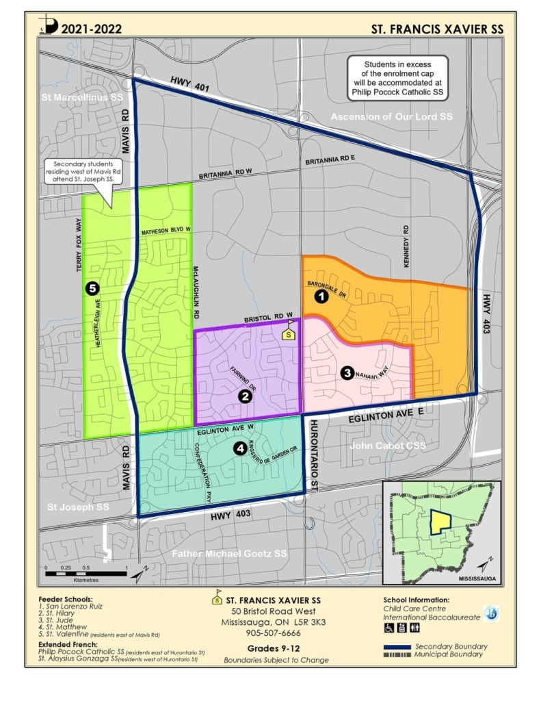st francis xavier boundary map