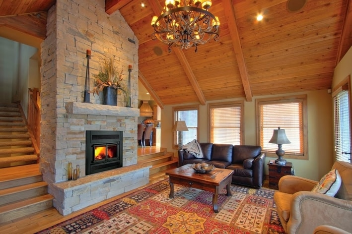 how to stage your home wood burning fireplace
