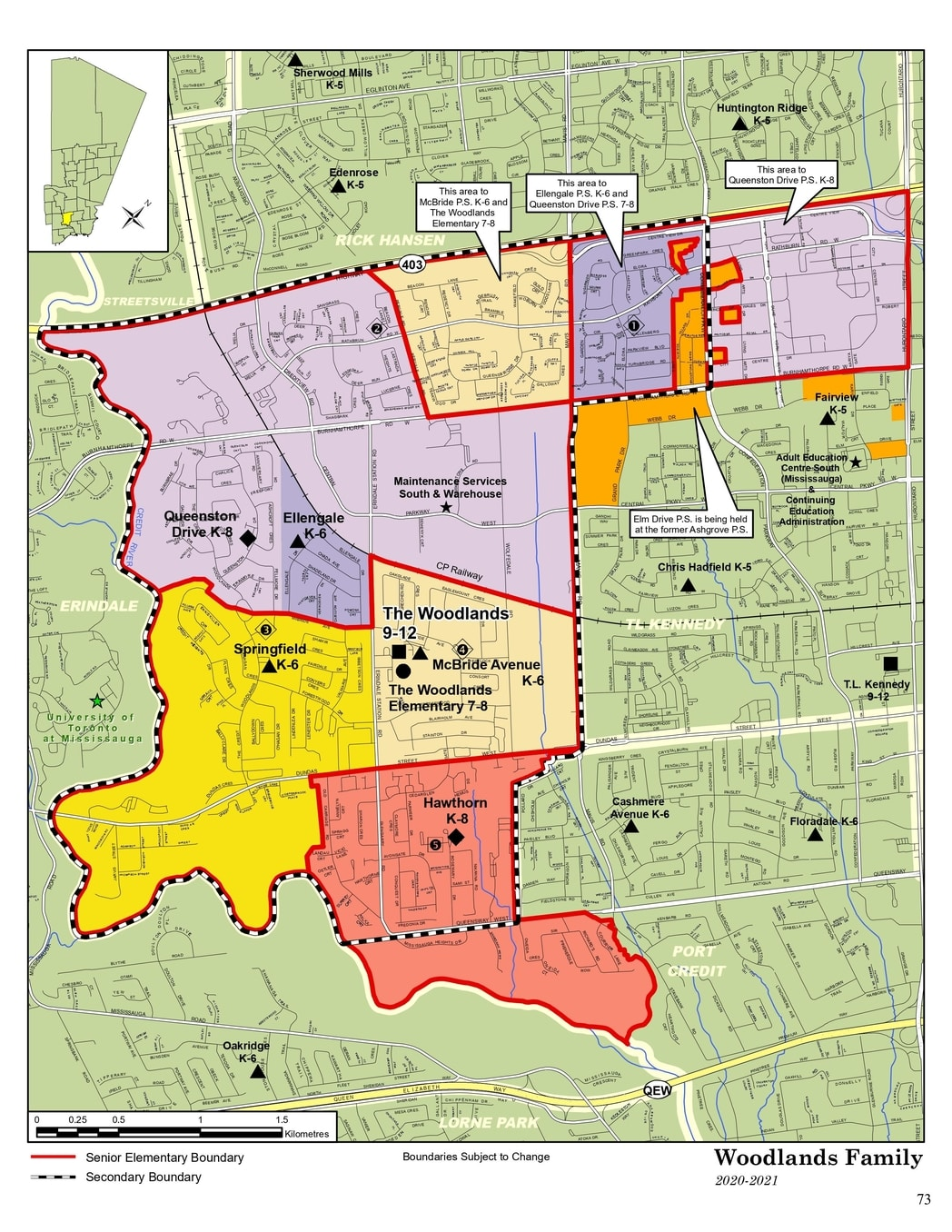 the woodlands school boundary map